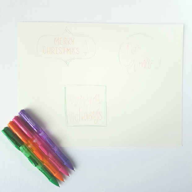 How to Create 3 DIY Holiday Gift Tags with Paper Mate Products