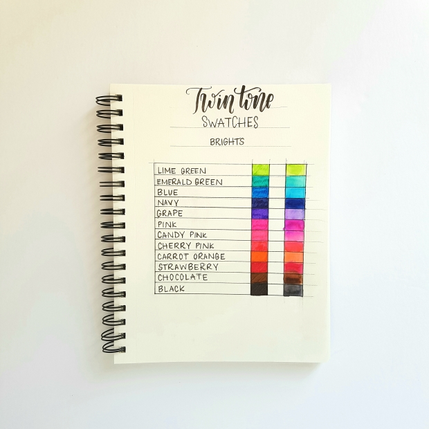 How To Create a Tombow Twin Tone Colour Tracker