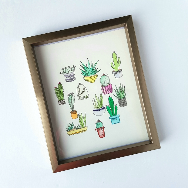 Easy To Do Succulent/Cactus Wall Art