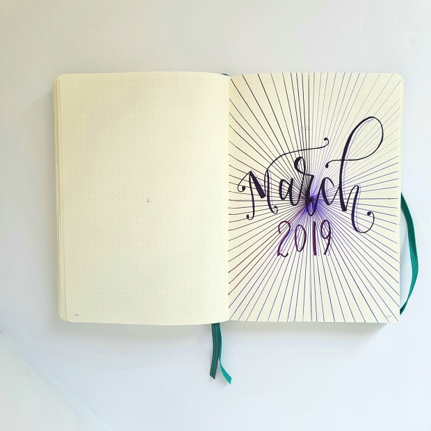 How To Create a Bullet Journal Title Page with Paper Mate Flair pens