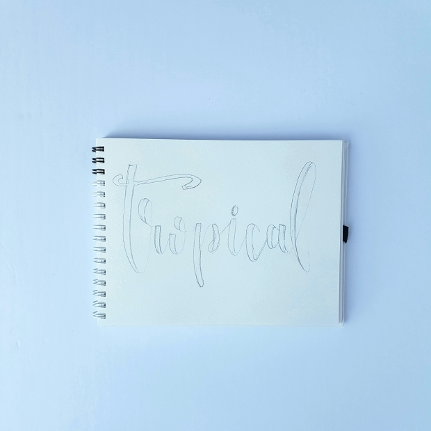 Tropical Summer Lettering Tutorial